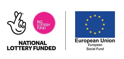 Big lottery and european union logo