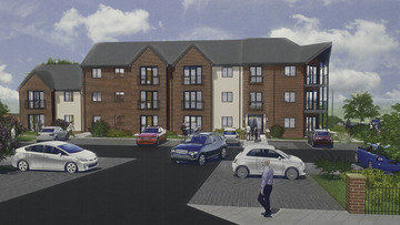 Braeburn House Development – Architect's impression drawing of how the finished development will look.