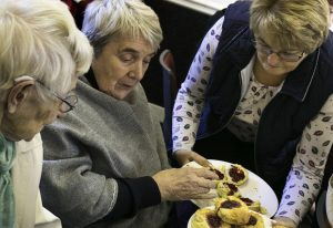 Beyond Housing residents from Staithes and Sleights enjoy tea and cakes at the Memory Lane session at Danby Village Hall