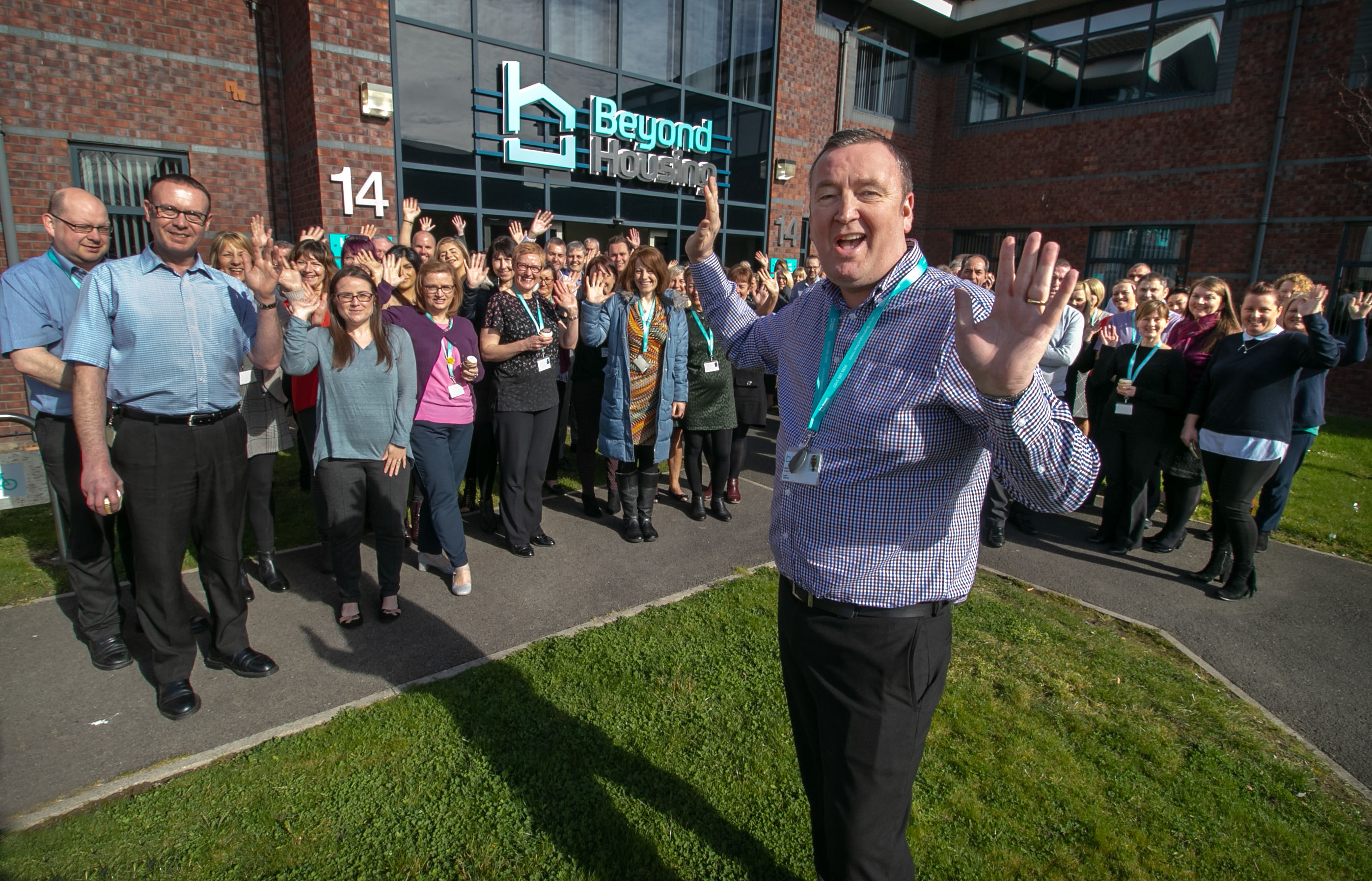 Darts superstar Glen Durrant bids a fond farewell to Beyond Housing colleagues on his last day at work.