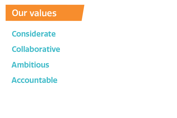 Our values - what's important to us