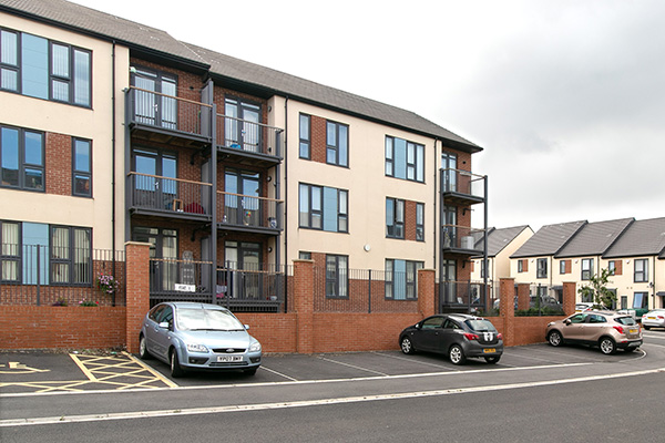 Low rise home with interlink