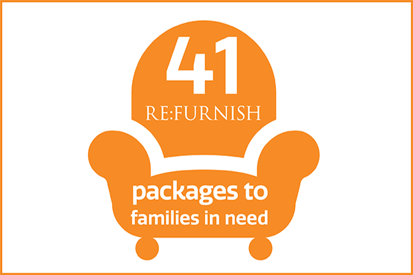 41 refurnish packages to families in need