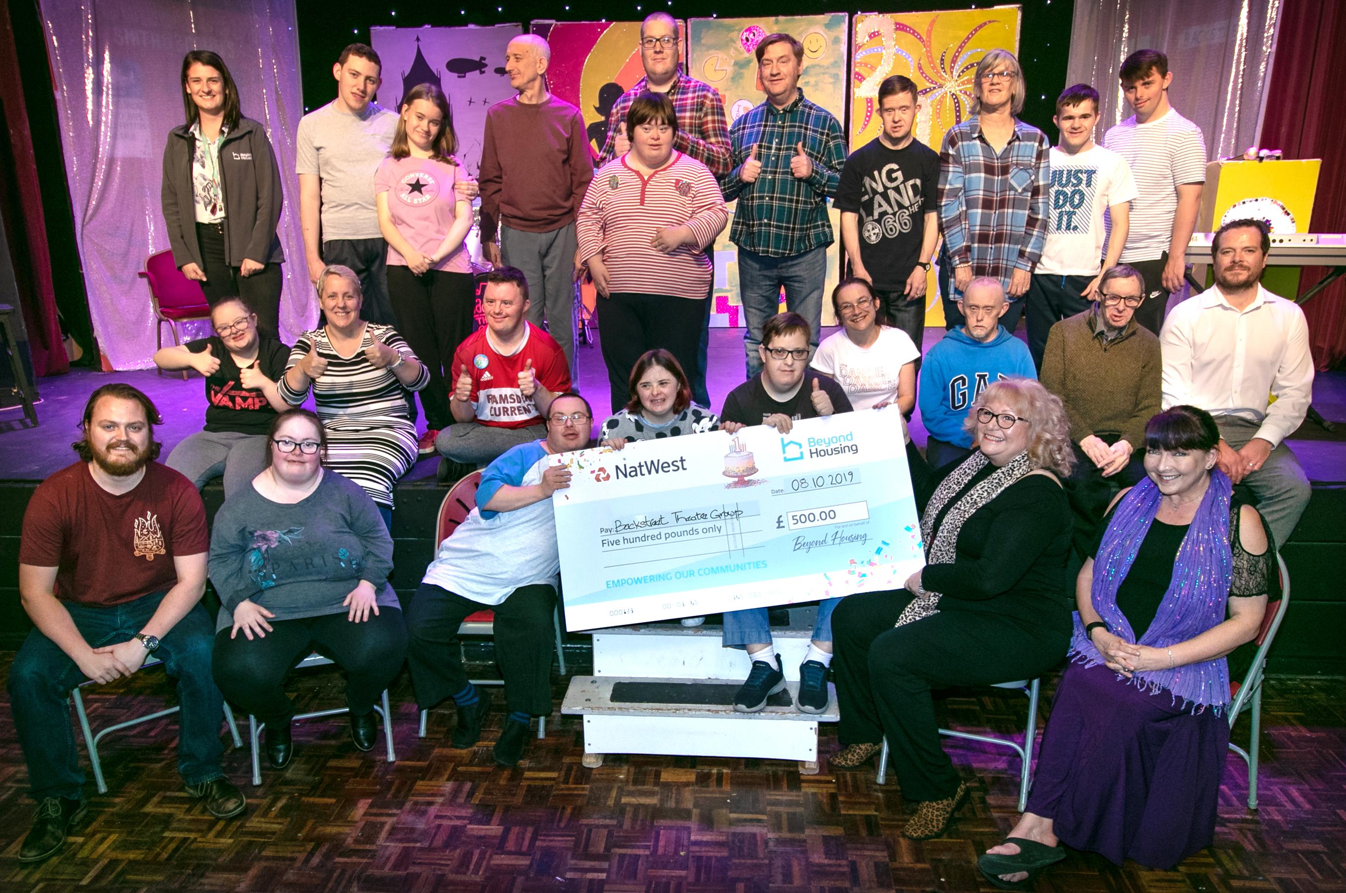 Charity Cheques Backstreet Theatre A ka