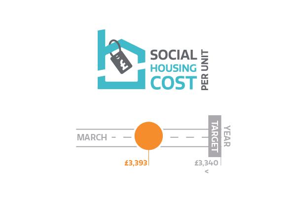 Social housing cost per unit