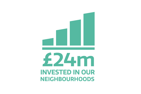 24 million pound invested in our neighbourhoods