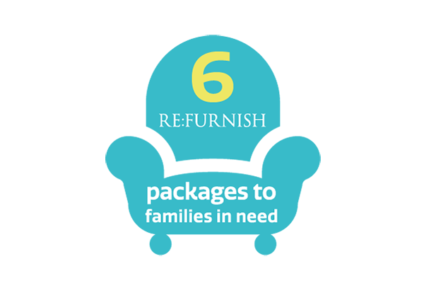 6 refurnish packages to families in need