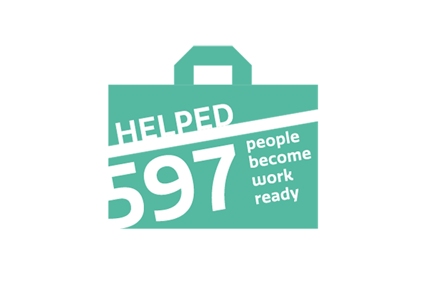 We have helped 597 people become work ready